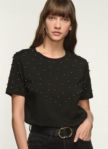 NGSTYLE NGKAW21TS0013 Zincir Detaylı Tshirt Siyah